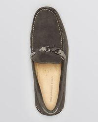 John Varvatos Gray Star Usa Schooner Dog Clip Loafers for men