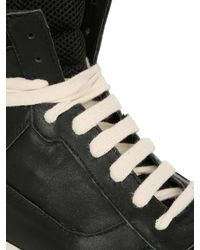 D.GNAK - Black Leather High Top Sneakers for Men - Lyst