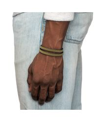 Lulu Frost - Green George Frost Neoprene Wrap Bracelet for Men - Lyst