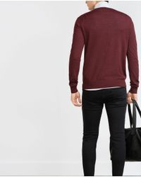 Zara | Purple Merino Wool Sweater for Men | Lyst