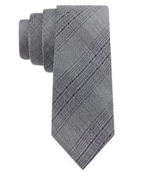 Calvin Klein | Gray Silk-blend Plaid Tie for Men | Lyst