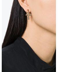 Givenchy - Metallic Cross Earrings - Lyst