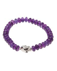 Luis Morais | Purple Stretchy Skull Bracelet | Lyst