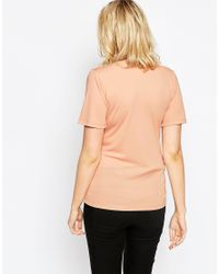 ASOS - Blue Nursing T-shirt With Twist Front - Lyst