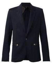 Lanvin - Blue Zipped Pocket Blazer for Men - Lyst