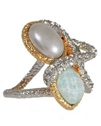 Alexis Bittar - Metallic Pearl Maldivian Encrusted Vine Ring - Lyst