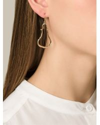 Aurelie Bidermann - Metallic 'Apache' Earrings - Lyst