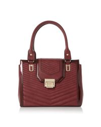 Dune | Purple Danica Quilted Patent Trim Tote Bag | Lyst