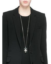 Alexander McQueen Green Royal Skull Pendant Necklace