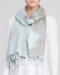 Eileen Fisher - Blue Printed Scarf - Lyst