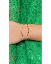Phyllis + Rosie | Metallic Double Cuff Bracelet - Gold | Lyst