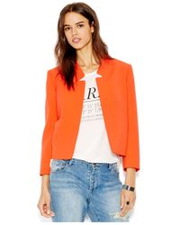 RACHEL Rachel Roy | Red Long-sleeve Collarless Blazer | Lyst