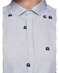 Neil Barrett Multicolor Pac-man And Stripe Shirt for men