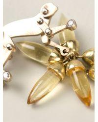 Marc Alary Metallic 18kt White Gold Monkey Earrings