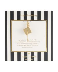 kate spade new york | Metallic How Charming Graduation Hat Charm | Lyst
