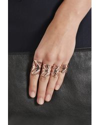 Arme De L'Amour | Metallic Set Of Four Rose Gold-plated Rings | Lyst