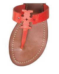 Tory Burch Red Moore Flat Thong Sandal