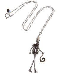 Servane Gaxotte - Black Queen Cat Pendant Necklace - Lyst