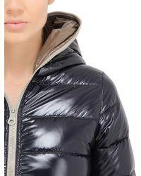 Duvetica | Blue Ace Long Shiny Nylon Down Jacket | Lyst