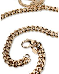 Moschino | Metallic Circle Pendant Necklace | Lyst