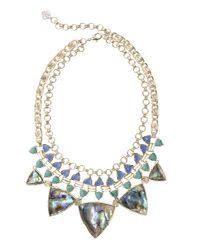 Kendra Scott | Emily Statement Necklace, Blue Oasis | Lyst