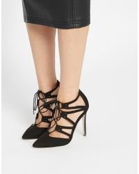 ASOS - Black Pacific Wide Fit Lace Up Heels - Lyst