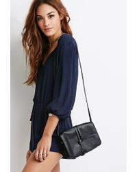 Forever 21 Black Knotted Flap Crossbody