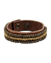 Replay | Brown Bracelet | Lyst