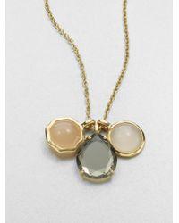 Ippolita Metallic Gelato Campagna Semi-Precious Multi-Stone & 18K Yellow Gold Three-Pendant Necklace
