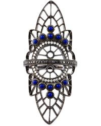 Joelle Jewellery | Black Oversized Geometric Diamond Ring | Lyst
