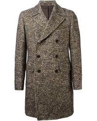 Tagliatore - Brown Double Breasted Coat for Men - Lyst
