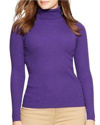 Lauren by Ralph Lauren | Purple Plus Turtleneck Sweater | Lyst