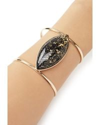 Forever 21 | Metallic Faux Stone Cutout Cuff | Lyst