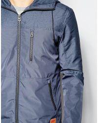 Jack & Jones | Gray Hooded Windbreaker Jacket for Men | Lyst