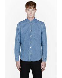 Acne Studios Bleached Blue Isherwood Denim Shirt for men