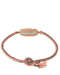 Brooke Gregson - Gray Mid Grey Labradorite And Silk Button Bracelet - Lyst