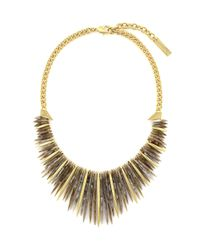 Vince Camuto | Metallic Spike Fringe Statement Necklace | Lyst
