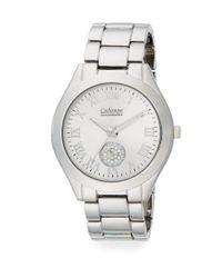 Catherine Malandrino - Metallic Silvertone Link Bracelet Watch - Lyst
