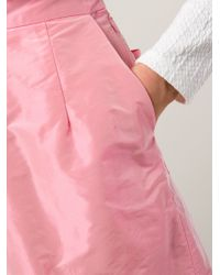 TOME Pink Pleated Front Shorts