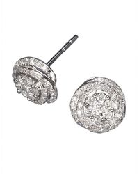Effy | Metallic Diamond And 14k White Gold Stud Earrings, 0.66 Tcw | Lyst
