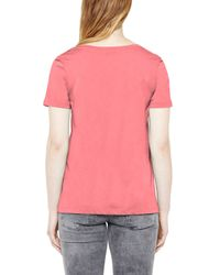 Great Plains | Pink Featherweight Jersey Mesh Tee | Lyst