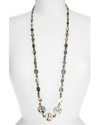 Chan Luu | Metallic Long Abalone Necklace - Abalone | Lyst