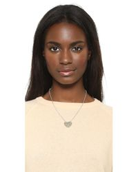 Marc By Marc Jacobs - Metallic Broken Hearted Pendant Necklace - Lyst