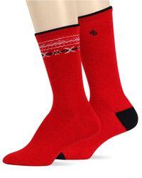 Ralph Lauren | Red Fair Isle Trouser Sock Set | Lyst