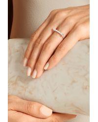 Monica Vinader - Metallic Skinny Sterling Silver Diamond Ring - Lyst