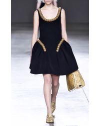 Simone Rocha - Black Bonded Wool Beaded Dress - Lyst