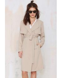 Nasty Gal | Natural Flux Trench Coat | Lyst