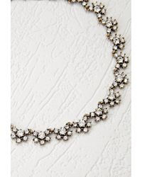 Forever 21 Metallic Clustered Rhinestone Statement Necklace