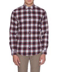 Vince | Red Plaid Cotton-flannel Shirt for Men | Lyst