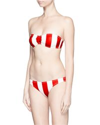 Solid & Striped Red 'the Chloe' Stripe Bandeau Top